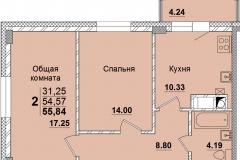 2комн-55.84